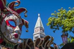 Maska karnawał w Wenecja, Włochy Obraz Royalty Free