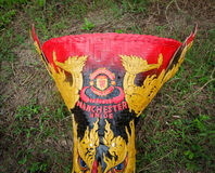 Maska manchester united logo Obraz Stock