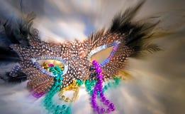 maska mardi gras koraliki, Fotografia Royalty Free