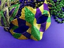 maska mardi gras koraliki, Fotografia Stock