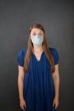 maska okaleczająca chirurgicznie target2239_0_ kobieta zdjęcie stock