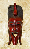 maska panafrykańskiego drewniane Obraz Royalty Free