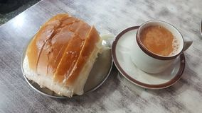 Maska Pav and Chai stock photo