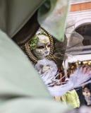 Maska w lustrze Zdjęcia Royalty Free
