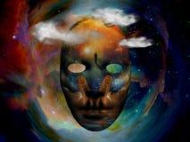 Maska w przestrzeni ilustracji