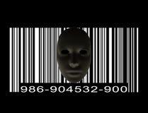 Maska z Prętowym kodem Zdjęcie Royalty Free
