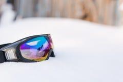 Maske für Snowboarding Stockfotos
