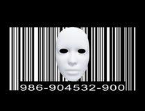 Maske mit Strichkode Stockbilder