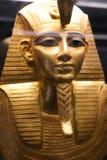 Maske - Schatz Königs Tutankhamen, ägyptisches Museum stockbild