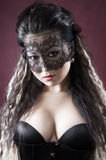 Masked beautiful asian woman Royalty Free Stock Photo