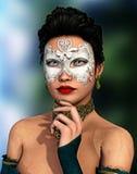 Masked beauty Royalty Free Stock Photos