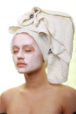 Masked Beauty - facial treatment Stock Photo