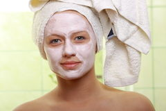 Masked Beauty - facial treatment Royalty Free Stock Photos
