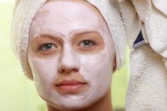 Masked Beauty - facial treatment Stock Photo