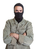 Masked burglar with crossed arms Royalty Free Stock Photo