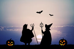Masked children for Halloween Royalty Free Stock Images