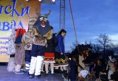 Masked children Varna Carnival scene Stock Image