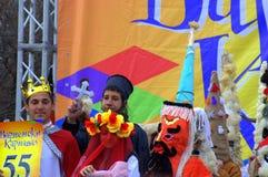 Masked children Varna Carnival scene Stock Photo