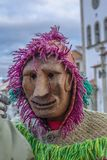 Masked. Close up view of masked man in a Carnival parade Royalty Free Stock Photos