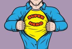 Masked comic book superhero royalty free illustration