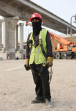 Masked Construction Worker Royalty Free Stock Photos