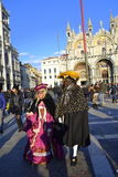 Masked couple Venice Royalty Free Stock Images