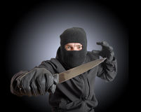 Masked criminal Royalty Free Stock Photos