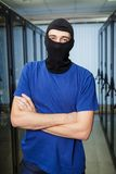 Masked cyber hacker Royalty Free Stock Photography