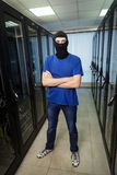 Masked cyber hacker Stock Photo