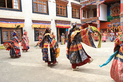The masked dance festival in Lamayuru Monastery (India) Royalty Free Stock Images