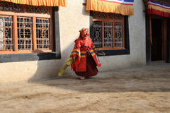 The masked dance festival in Lamayuru Monastery (India) Royalty Free Stock Photos