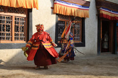 The masked dance festival in Lamayuru Monastery (India) Royalty Free Stock Photo