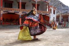 The masked dance festival in Lamayuru Monastery (India) Stock Photo