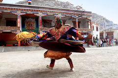 The masked dance festival in Lamayuru Monastery (India) Stock Image