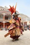 The masked dance festival in Lamayuru Monastery (India) Stock Images