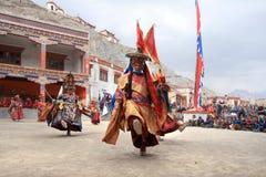 The masked dance festival in Lamayuru Monastery (India) Stock Photos