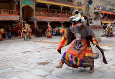 The masked dance in Hemis gompa (monastery), Ladakh, India Stock Photos