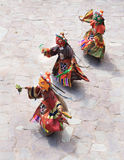 The masked dance in Hemis gompa (monastery), Ladakh, India Stock Photo