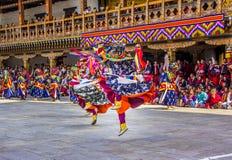 Masked dancer Stock Photography