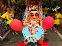 Masked Dancer at a Temple Carnival in Taiwan Royalty Free Stock Image