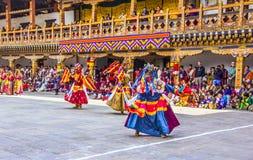 Masked dancers Stock Photos