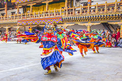 Masked dancers Royalty Free Stock Photography
