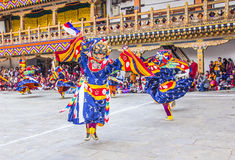 Masked dancers Royalty Free Stock Photo