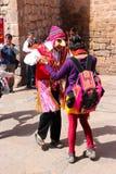 Masked dancers at Plaza  de Armas. Masked dancers at Plaza de Armas, Cuzco, Peru Stock Photography