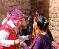 Masked dancers at Plaza  de Armas. Masked dancers at Plaza de Armas, Cuzco, Peru Stock Photos