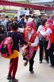 Masked dancers at Plaza  de Armas. Masked dancers at Plaza de Armas, Cuzco, Peru Royalty Free Stock Photos