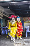 Masked dancers at Quy Nonh Royalty Free Stock Photo