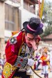 Masked dancers Virgen del Carmen Pisac Cuzco Peru Royalty Free Stock Photos