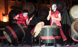Masked Drummer Stock Image