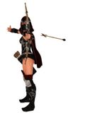 Masked female assassin archer looses arrow Stock Images